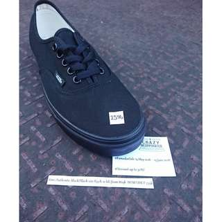 #RamadanSale #CrazyIncSale Vans Authentic Black/Black Original
