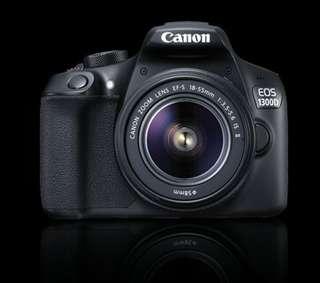 Kredit kamera murah, DSLR Canon EOS 1300D Garansi Resmi data script
