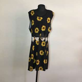Kylie and Kendall Sunflower Dress