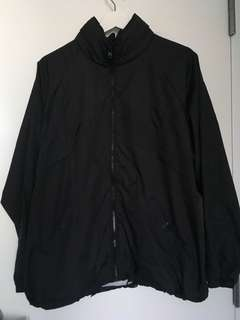 Oversized Black Rainjacket/Windbreaker ?