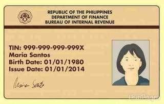TIN ID/PHILHEALTH ID/PASSPORT APPOINTMENT