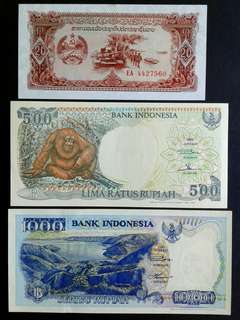 World UNC x3 banknotes#2