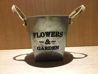 復古田園鐵皮桶 裝飾花藝鐵桶 盆栽鐵桶 鐵製花筒