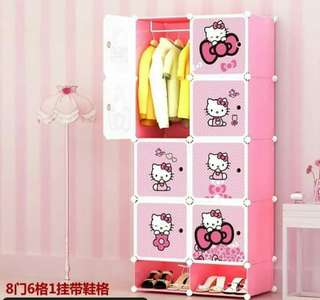 Hello Kitty DIY Cabinet (8 cubes)