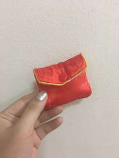 Chinese Red Jewelry Pouch