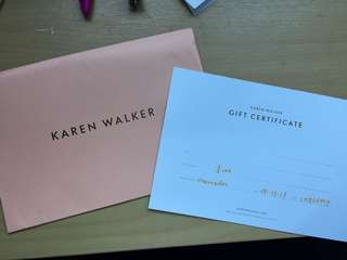 Karen Walker $100 voucher