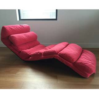 Floor Lounge Chair RED with adjustable positions