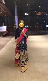 Lengha saree set for rent