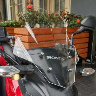 Honda CB190R CBF190R smoke tinted smoky clear transparent wind screen windshield shield higher taller