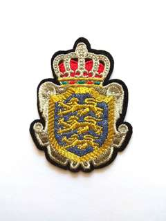 Royal Crown Crest Heraldry Iron On Patch