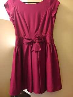 Barkin pink bow dress size AU 8