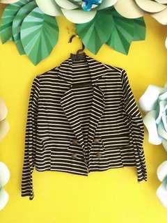 Stripe Crop Blazer