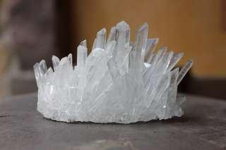 White Quartz Crystal Cluster
