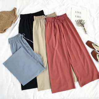 🚚 🌸[ PO ] Retro Drape High Waist Wide Leg Pants