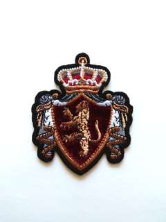 Royal Crown Heraldry Crest Arms Iron On Patch