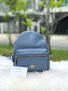 Coach mini backpack color in blue