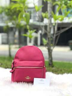 Coach Mini Backpack Color In Pink
