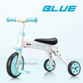BAONEO kids Bike Push Bike / Pedal Bike / Foldable Tricycle with removable pedal