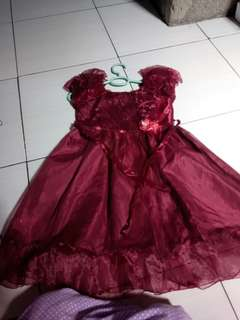 Dress anak perempuan 6-7 th