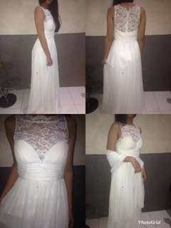 Long white gown for rent