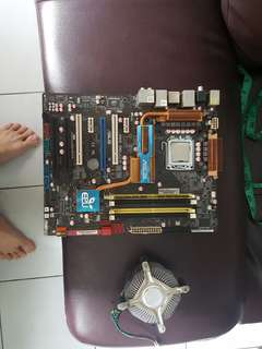 Motherboard + Core 2 Quad Q6600 2.4ghz Processor, Asus triple graphic card  motherboard, Processors