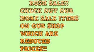 RUSH SALE ITEMS!!