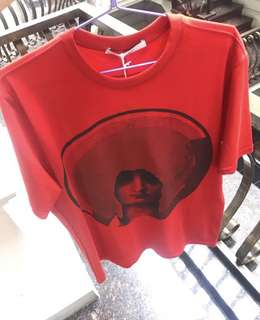 Givenchy madonna red t shirt