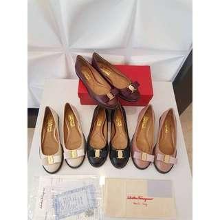 Sepatu Salvatore Ferragamo Flat Shoes Mirror Quality