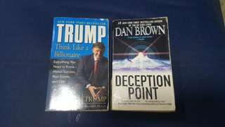Think Like A Billionaire (Donald Trump) & Deception Point (Dan Brown)