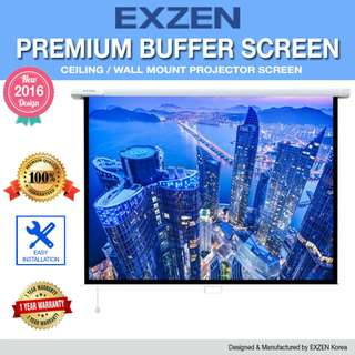 "[EXZEN] 120"" (1:1) or 84"" x 84"" Premium Buffer Projector Screen"
