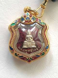 Phra Sothorn Rian Sema 2498 Red with longya gold casing