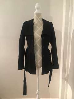Babaton wool coat size xs