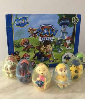 Paw patrol surprise egg for kids goodies bag, birthday party goodie bag packages, door gift