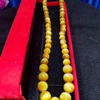 Collectors Grade Golden Tiger Eyes 收藏级金1虎眼项链