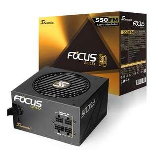 SEASONIC Focus 550FM 80 Plus Gold Modular Power Supply