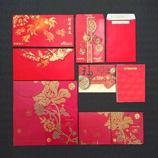 BN Citibank 10pcs Assorted Red Packets
