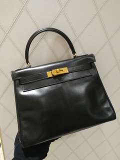 Hermes kelly 28 in black no strap