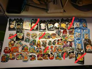 Disney pins($100起)