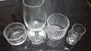 各式酒杯-紅酒杯,xo酒杯,小清酒杯-(共四個)家品