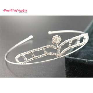 Tiara Wedding Crown Mahkota Pengantin Hiasan Rambut Murah Wanita