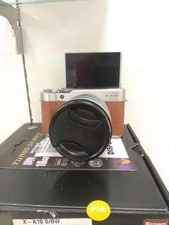 Fujifilm Mirrorless X-A10+Kit Lens Free V-Gen 16GB Class 10 Turbo Promo Cicilan Tanpa Kartu Kredit Proses 3 menit Tanpa DP