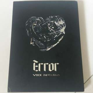 VIXX 2nd Mini Album Error