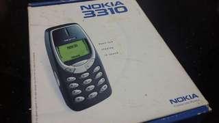 (2000年)-諾基亞3310(原裝空盒一個)