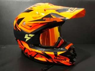 Helm GM + goggle cross lyioo