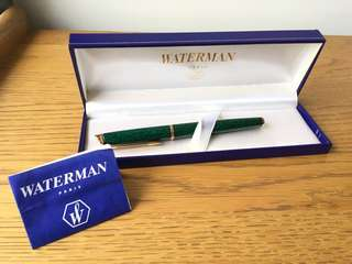 Waterman Pen Green Marble black ball pen 黑色原子筆