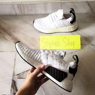 Adidas NMD R2 PK White Black // Ready stock