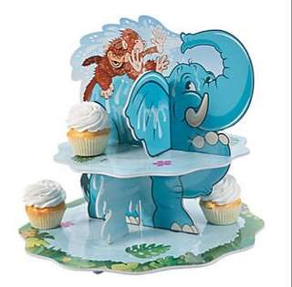 (In Stock)  Zoo Adventure Cupcake Stand