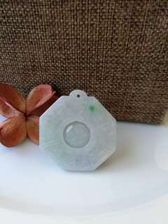 $38 Fixed Sales Type A Natural Jadeite Jade Ba Gua Pendant