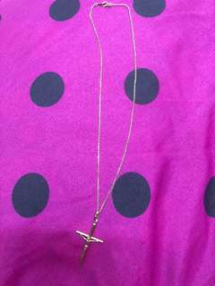 GOLD NECKLACE 18k( cross pendant )
