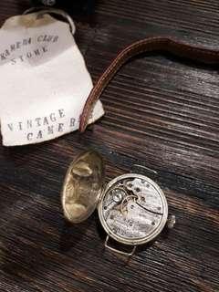 1901 Vintage Waltham Wristwatch 15 Jewels With Red Genuine Leather Strap